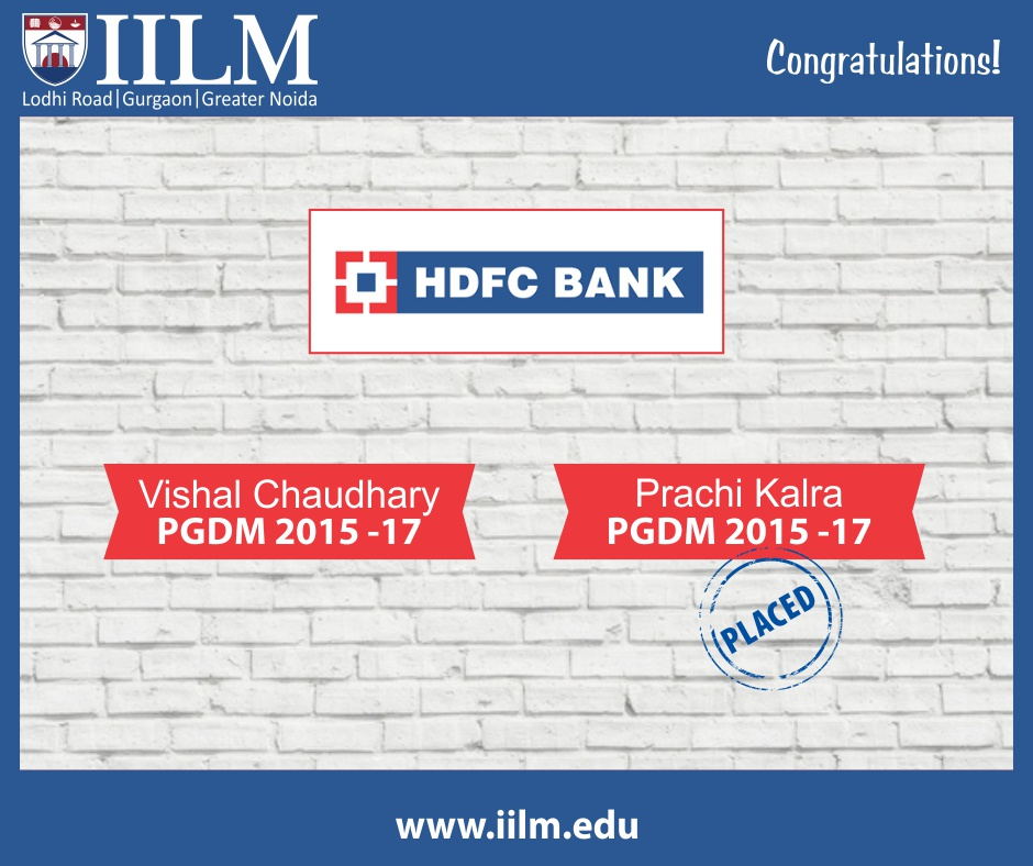 HDFC Bank | Students Placed