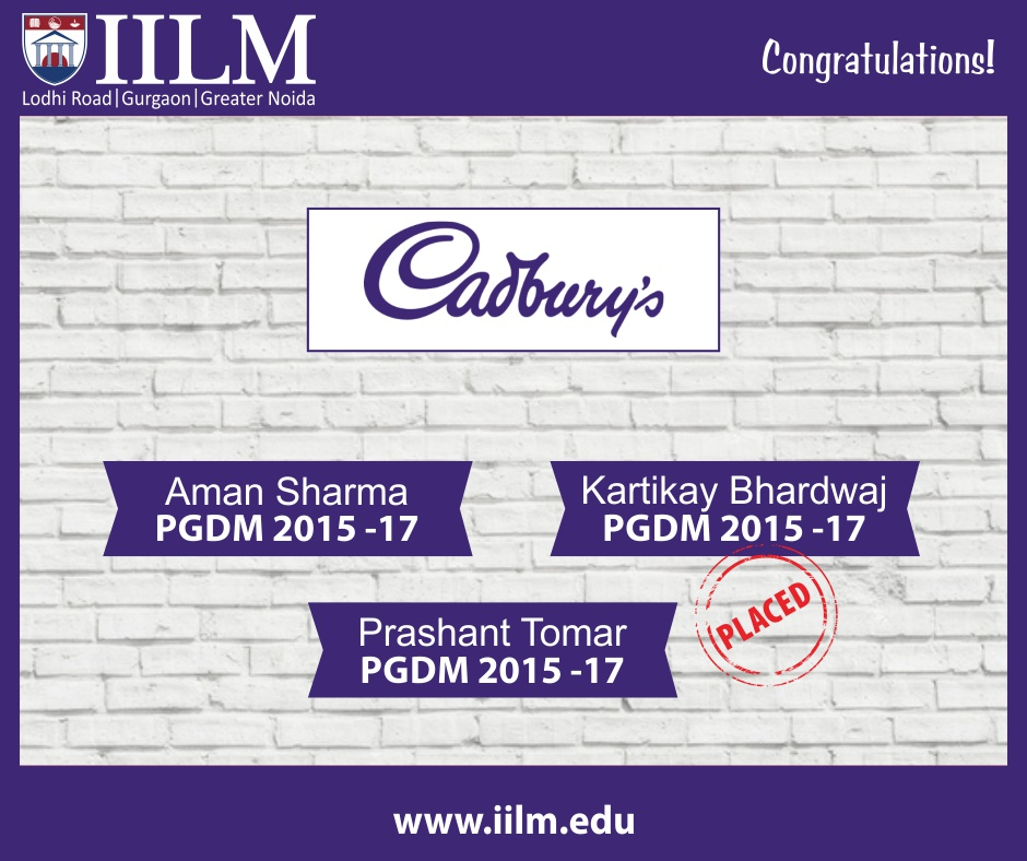 Cadbury's | Students Placed