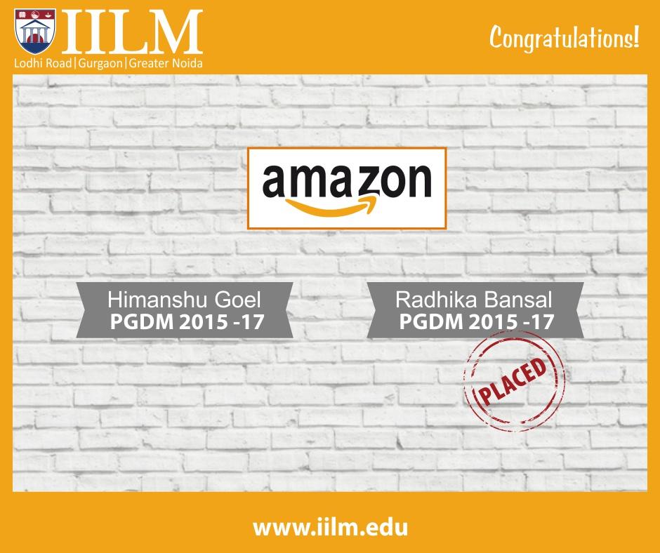 Final Placements - Amazon
