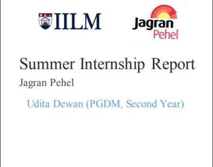 Summer-Internship-Report--on-Jagran-Pehel
