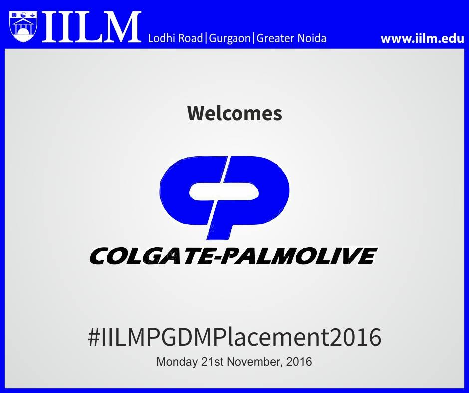 Colgate Palmolive | Final Placement