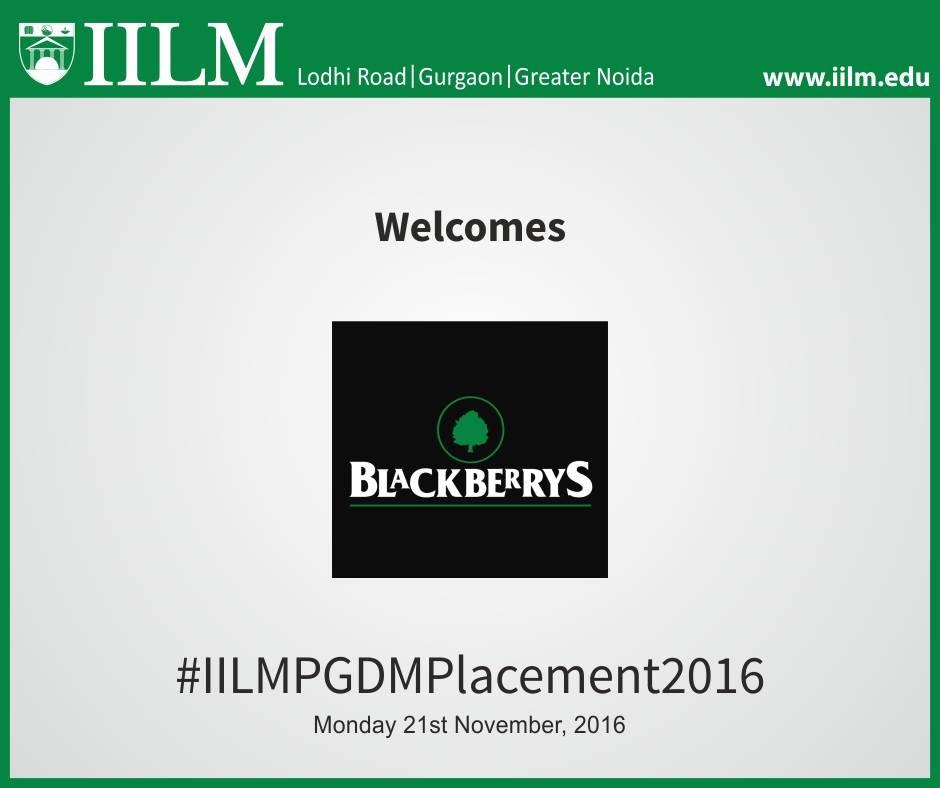 Blackberrys | Final Placement