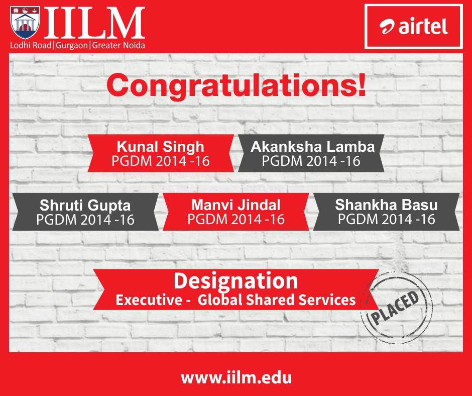 Airtel | Students Placed