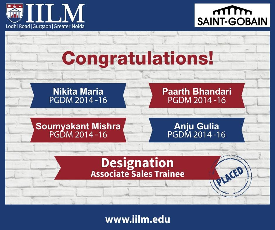 SAINT-GOBAIN | Students Placed