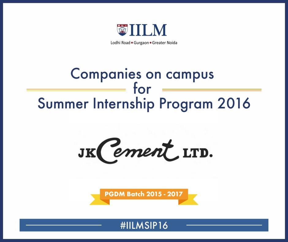Jk Cement Webmail : J k cement iilm career management centre