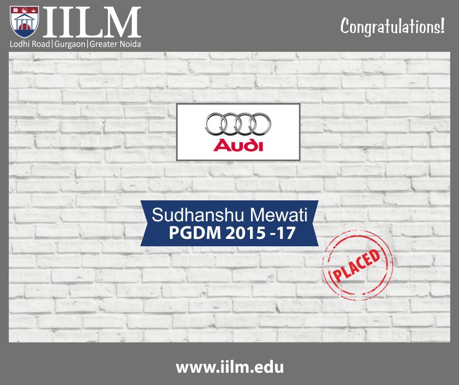 Audi India | Students Placed