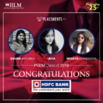 IILM : selected in HDFC Bank