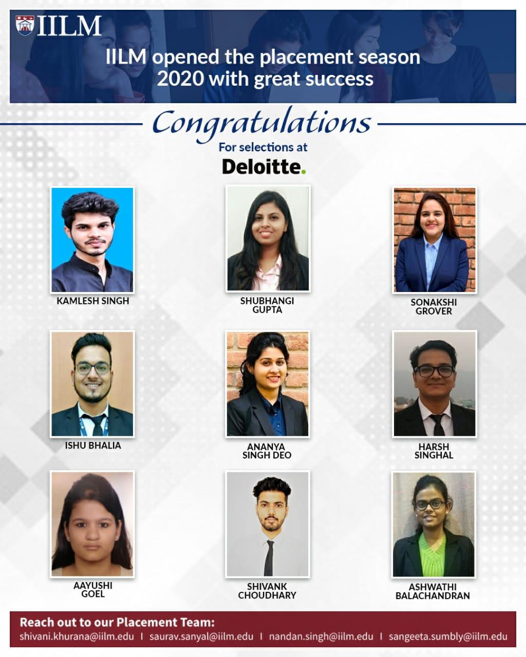 Placement 2020 in Deloitte